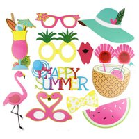 Pack von 12 Hawaiian Photo Booth Props Strand Luau Hawaiian Party Dekorationen Pool Sommer Zeit Party Tropical Flamingo Party