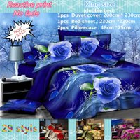 Wholesale hot 3d bedding set for sale - Group buy 2015 hot D bedding set king size bed linen include duvet cover bed sheet pillow cases reactive printing