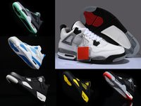 Wholesale Sneaker Women High Cut - retro 4 thunder OG white cement men women basketball shoes sneakers 2016 high cut shoes US sizes 5.5-13 High Quality Version