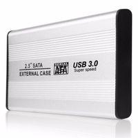 2.5 sata ssd toptan satış-TS-25HC305 USB 3.0 2.5 Inç SATA Alüminyum Harici HDD Durumda 5 GB / S Hız SSD Sabit Disk Kasa Harici Muhafaza Kutusu hd externo