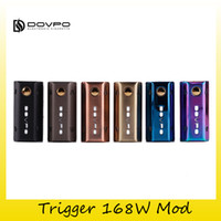 Wholesale Anodized Batteries - Authentic Dovpo Trigger 168W Box Mod 2x 18650 Battery Zinc Alloy Anodized Matte For Original 510 Thread Atomizers Tank 100% Genuine 2203030