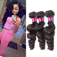 Wholesale Cheap Wavy Remy Hair - Cheap Remy Cambodian Hair Weaves Loose Wave 3Bundles Lot Unprocessed Virgin Cambodian Human Hair Extensions Wavy Remy Hair Weft Can Dye