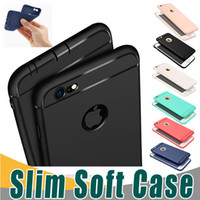Wholesale Iphone Black Covers - Slim Soft TPU Silicone Case Cover Candy Colors Matte Phone Cases Shell with Dust Cap For iPhone X 8 7 6 6S Plu 5S