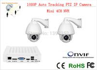 Wholesale Track Security Mini Camera - CCTV IP Camera 2pcs +mini NVR IR 150m Auto Tracking ptz High Speed Dome PTZ Camera ip 20x zoom mini nvr 4ch CCTV Security kit