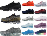 Wholesale New Shoes For Army - 2018 New Vapormax Mens Black Running Shoes For Men Sneakers Women Fashion Athletic Sport Shoe Hot Corss Hiking Jogging Walking Outdoor Shoe