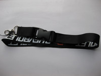 anel anti estático venda por atacado-Cordão preto e porta-chaves para suporte em torno do pescoço
