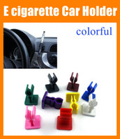 Wholesale Ego Cigarette Clip - ecig E cigarette Car Holder eclip clamp stander e clip for ego T e cig batteries Mechanical Mod with sticky bottom plastic car holder FJ047