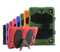Wholesale Tab Silicon - Heavy Duty ShockProof Rugged Impact Hybrid Tough Armor Case For iPad 2 3 4 5 6 Mini Samsung Galaxy Tab 3 4 P3200 P5200 T330 T230 A T350 T550