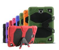 ipad case großhandel-Robustes, robustes und robustes Hybridgehäuse für starke Beanspruchung für iPad 2 3 4 5 6 Mini Samsung Galaxy Tab 3 4 P3200 P5200 T330 T230 Ein T350 T550