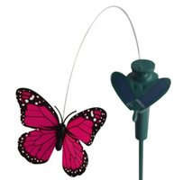 Wholesale-LeadingStar Solar Yard Stake Fluttering Butterfly Grandi bambini Solar Toy Ship in colore casuale
