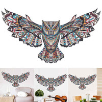 Wholesale flying birds art - 1PCS Removable Animal Owl Wings Wall Sticker Bird Flying Vinyl Decal living Room Art Self Adhesive decor DIY cm cm