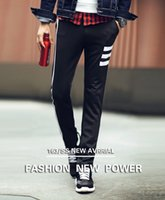 Wholesale Mens Pants Models - Men Pants 2016 Spring Summer Explosion Models Casual Black Slim Harlan Feet Pants High Quality Sport Outdoor Mens Joggers Pants K234
