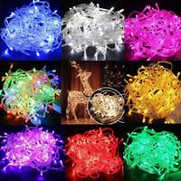 funkelnde led-leuchten großhandel-Weihnachtsbeleuchtung 20M / 30M / 50M / 100M 800 LED-Schnur-Lichterkette-Weihnachtsdekor beleuchtet rotes / blaues / grünes buntes Partei-Hochzeits-Funkelnlicht