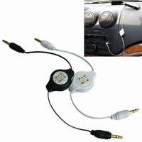 aux kabel freies verschiffen großhandel-Einziehbares Zusatzkabel mit 3.5mm Zusatzkabelautoaudiokabel AUX-Audiokabelauto mp3, freies Verschiffen