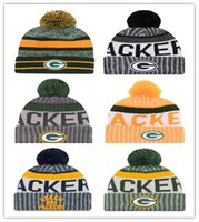 Wholesale Hot Teams - 2017 New Green Bay Beanies American Football HOT team Beanies Sports Beanie Knitted Hats Free Drop Shipping Accept Mix Order Album Offered