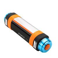 ingrosso torcia elettrica portatile della banca di potere-Torce a led Portatile Power Bank USB ricaricabile IP68 impermeabile multicolore LED Night Light Lampada repellente per zanzare con SOS di emergenza