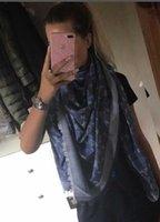 Wholesale silk satin shawl - zhu 2018 RAINBOW SHAWL M78684 classic cotton pashmina scarf shawl women metal silk scarf printing scarf wraps 140*140