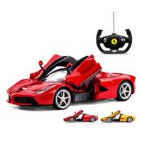 Wholesale Toy Cars Open - 2017 Hot Sale RASTAR 1 14 Scale Ferrari La Ferrari Laferrari Radio Remote Control Model Car R C RTR Open Doors