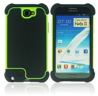 Impact-gros caoutchouc antichoc couverture Hard Case pour Samsung Galaxy Note N7100 2 Note II Armure Heavy Duty