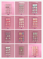 Wholesale Metal Rivet Nail Art - :Nail art piece of Japanese metal rivets fake nails patch set of 24 piece of gum nail