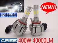 Wholesale H4 Conversion Headlights - CREE 4 Sides LED 400W 40000LM Car Headlights Conversion kit Light Bulbs Lamp WHITE 6000K h1 h4 h7 h11 9005