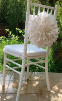 Wholesale Flower Chair Covers - New Arrival Flower Big Tiers Wedding Decoration Wedding Supplies Special Wedding Events Chair Sash Chair Covers