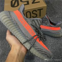 Wholesale Wholesale Casual Shoes For Men - ORIGINALS Y BOOST 350 V2 KANYE WEST STEGRY BELUGA ROUSOL Grey Orange BB1826 RUNNING CASUAL SHOES SPLY-350 MENS SNEAKERS SPORTS SHOES FOR MEN