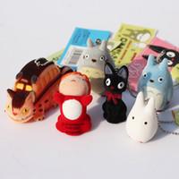 Wholesale Wholesale Tv Services - Japanese Hayao Miyazaki Cartoon Movie My neighbor Totoro Ponyo on the Cliff KiKis Delivery Service Figure Toy Keychains