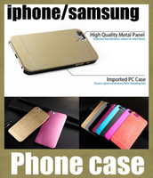 задние крышки для s4 оптовых-Для iphone Samsung роскошные ультра тонкий Motomo щеткой алюминиевый металлический шифер жесткий задняя крышка чехол для iphone 4 5 Примечание 3 4 s4 s3 SCA020
