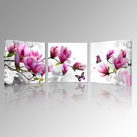 Wholesale beautiful flower art painting for sale - Group buy Magnolia Blossom Time Canvas Prints Beautiful Flowers Picture Art Prints Romantic Flora Canvas Art Modern Home Decoration Wall