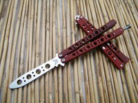 Wholesale Practice Butterfly Knives Trainer - The one Trainer BM40 Butterfly knife ,practice balisong butterfly Trainer, Die cast stainless steel handle, antislip red paint
