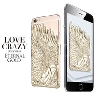 Wholesale I5 Phone Gold - 2015 New Design Angel Wings Phone Case Soft Plastic Back Cover For iPhone 6 iPhone 6 Plus I5 5S Hot Sale Without package