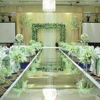 Wholesale Character School Supplies - 10 m roll 1 m Wide Silver Romantic Wedding Backdrop Centerpieces Decor Mirror Carpet Aisle Runner For Party Decoration Supplies