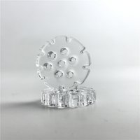 Wholesale snowflake nails - 20mm mm Thick Quartz Insert Dish with Snowflakes Style Oil Holes Thick Pyrex Quartz Banger Phat Thermal Skillet Nail