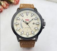 Wholesale Sport Quartz Japan Movt - Luxury Brand Date Japan Movt Men Quartz Casual Watch Army Military Sports Watch Men Watches Male Soft Leather Clock 2018