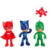 Wholesale wholesale boys toys online - 2017 set cm PJ masks Characters Catboy Owlette Gekko Cloak Action Figure Toys Boy Christmas Gift