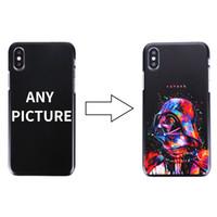 Wholesale Tpu Hard Case For Blackberry - 50pcs DIY Name Custom Design Print Case Cover For iPhone 6 6s 5 5s SE 7 7Plus 8 X Customized Hard PC Case
