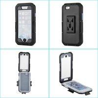 motorradhalterung iphone fall großhandel-Wasserdichtes Telefon-Kasten-Motorrad-Fahrrad-Handy-Halter-Lenkstangen-Berg für iphone 6S Plus