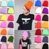 Wholesale Sure Quality - Wholesale-Make Sure quality 28 Colors Unisex Men Women Warm Cuff Plain Knit Ski Long Beanie Skull Cap Hat Free Shipping