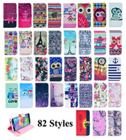 Compra Caso Del Leopardo Di Iphone 5c-Portafoglio Flip Leather Dream Catcher Aztec Flower Nutella Tiger Leopard Tribal Case per iPhone 4 5 5C 6 Plus Samsung Galaxy S5 S6 Edge Note 4