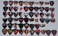 Wholesale Rolling Stones Band - Wholesale 58pcs lot Medium Various Guitar Picks Rock Bands GNR Rolling Stones 1D Pink Floyd