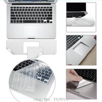 Wholesale-3in1 Palm Guard + capa de teclado europeia / americana + tomada anti-pó Para MacBook Air 11.6 13.3 15.4 Pro retina 13 15