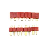 Wholesale Slip T Plug Connector - 10 Pairs Universal Non-slip T Plug Male and Female Connectors Battery Part for RC Lipo Battery ESC order<$18no track