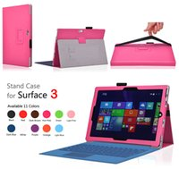 Wholesale Case Microsoft Tablet - Flip Stand Folio PU Leather Wallet Case Smart Cover For Microsoft Surface3 Surface 3 10.8 inch 10.8inch Pro4 12.3 inch Tablet PC