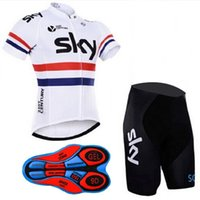 Wholesale Team Sky Jersey Bib - 2017 SKY Pro team Cycling Jersey set Cycling clothing Breathable Mountain Bike Clothes Quick Dry Bicycle Sportswear Cycling Set bib