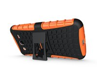 Wholesale Cell Combo - TPU+PC Heavy Duty Rugged Back Cover Combo Cell Phone Hybrid Kickstand Case For Samsung Galaxy Mega 6.3 i9200  5.8 i9150 Cover ShockProof