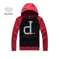 Wholesale Cheap Diamond Hoodies - Diamond Supply men's Hoodies hip hop autumn winter high fashion brand cheap full Hoodies fleece print mans set of head cloth