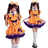 Wholesale Maid Clothing - Wholesale-Christmas show clothing Halloween cosplay new lovely nifty maid costume Lolita dress Anime cartoons maid outfits