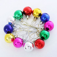 Wholesale Large Christmas Ball Ornaments - High quality Large shiny Multi Color christmas Bell balls plastic tree Hanging item ornaments decorations Seasonal Deco ZZ-445