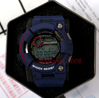 Wholesale Men Luxury Divers Watches - 2017 New Top Men Watch Waterproof Watch Digital GW1000 Blue army military shocking watches With original Box